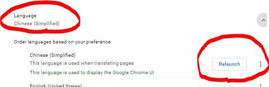 谷歌浏览器自带语言设置3