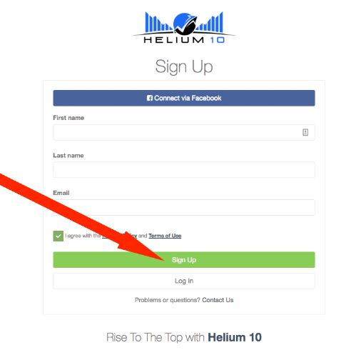 helium10下载注册指示1